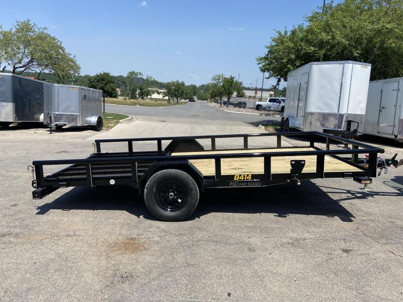 84x14 Single Axle Utility Trailer W/Open Sides