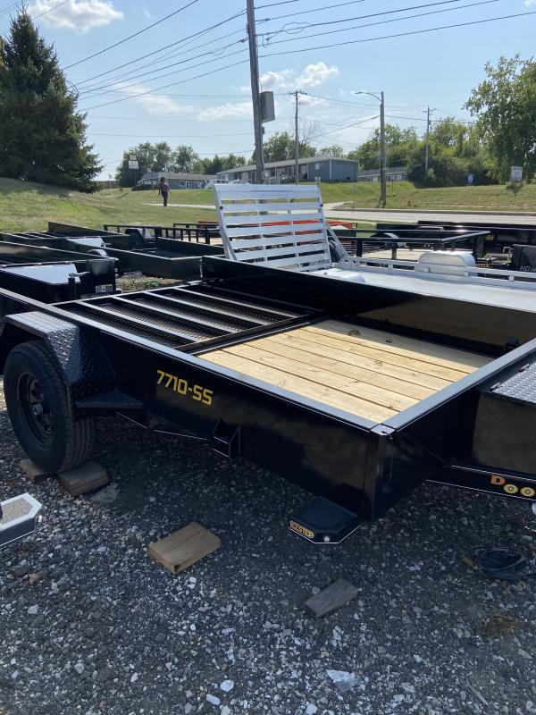 77x10 Single Axle Utility Trailer W/Solid Sides