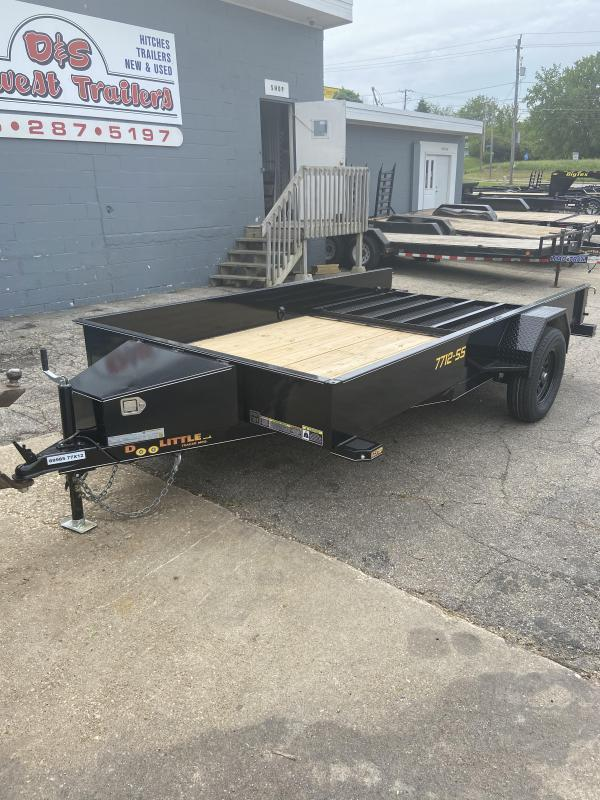 Doolittle 77x12 Single Axle Utility Trailer W/Solid Sides