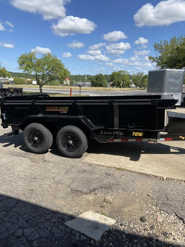 72x12 Master Dump 10000lb GVWR Dump Trailer With Ramps