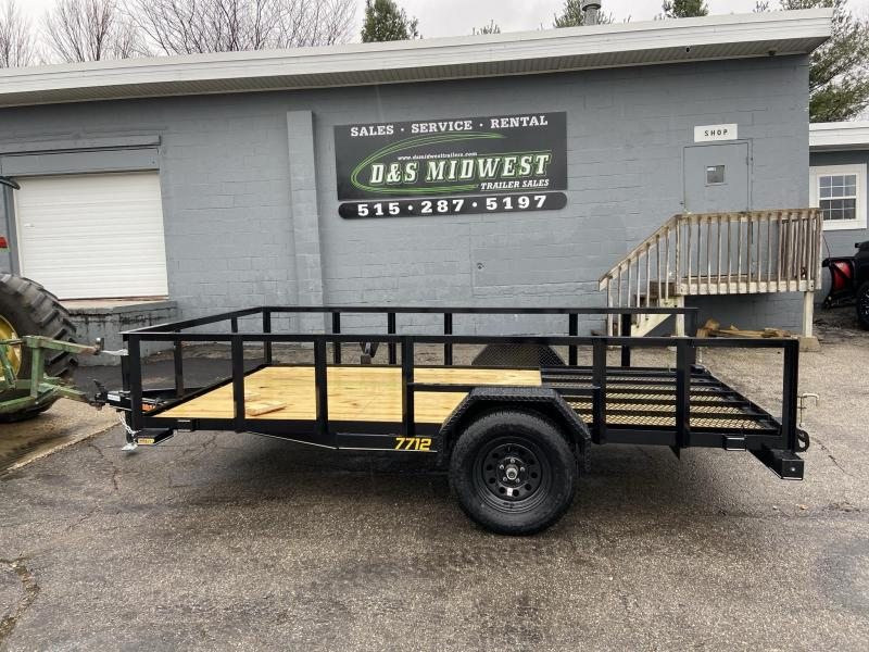 2021 Doolittle 77x12 Rally Sport Utility Trailer W/ 2ft sides