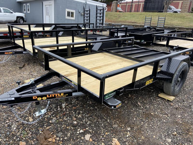2021 Doolittle 66x10 Single Axle Utility Trailer