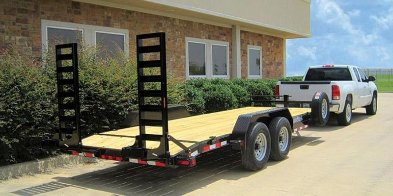2017 Load Trail 83x18 HD Skidloader Trailer with Drive Over Fenders