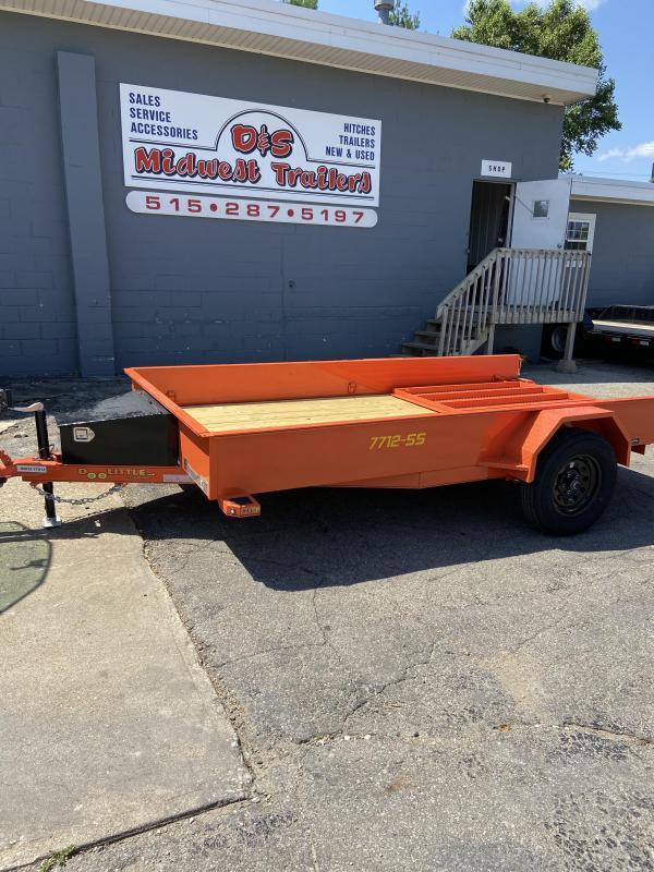 2021 Doolittle 77x12 Single Axle Utility Trailer W/Solid Sides