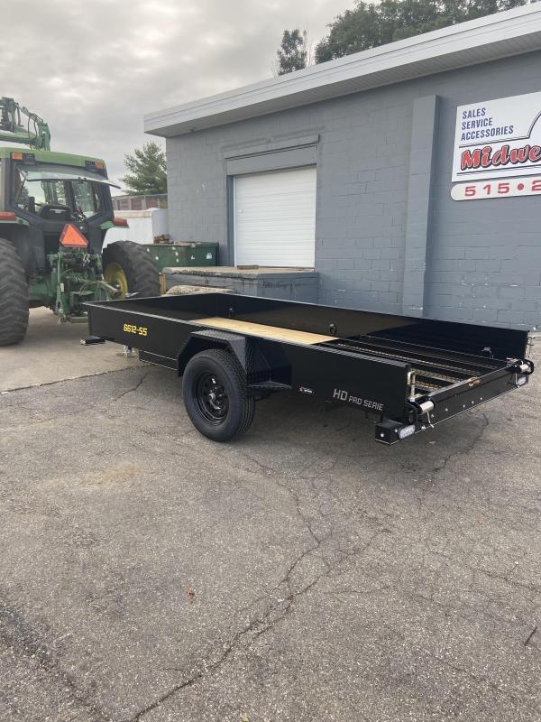 2021 66x12 Single Axle Utility Trailer W/Solid Sides