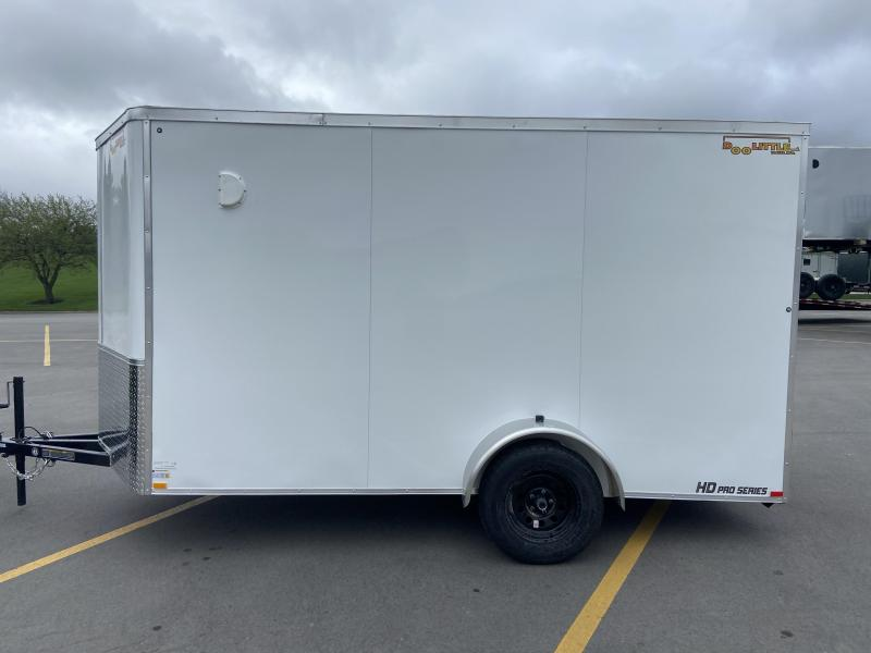 "2021 6x12 Bullitt Cargo w/Ramp Door Ext. Tongue 2 5/16"" Ball 6"" Extra Height"