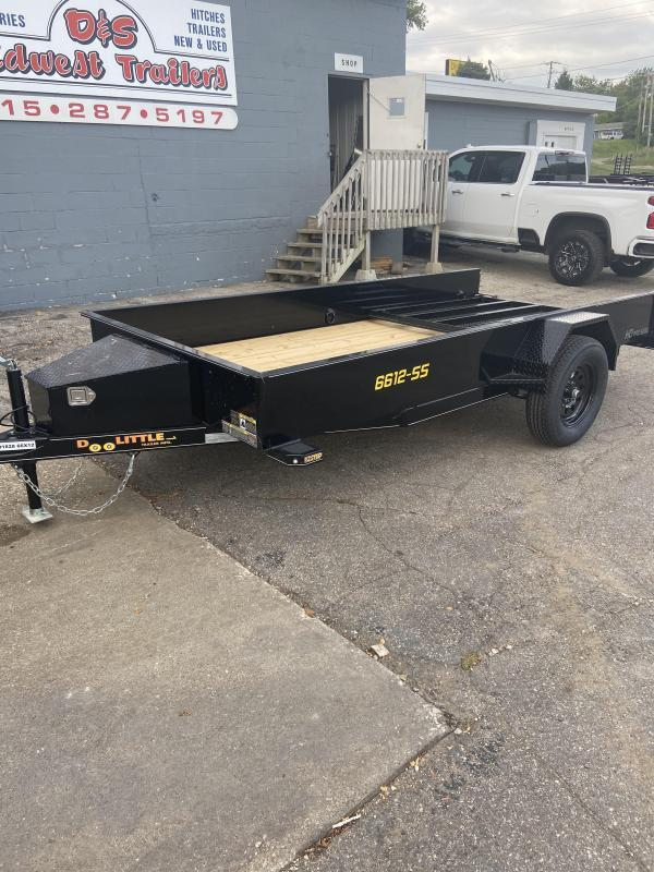 66x12 Single Axle Utility Trailer W/Solid Sides