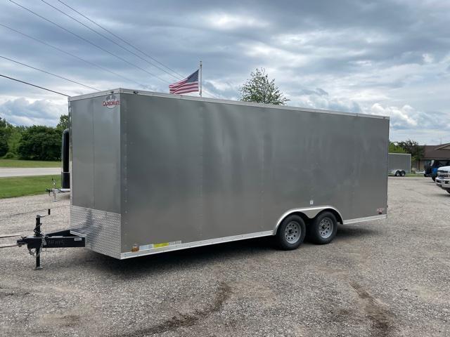 "2018 Cargo Mate 8.5x20 V-Nose Ramp Door 12"" Extra Height Enclosed Cargo Trailer"