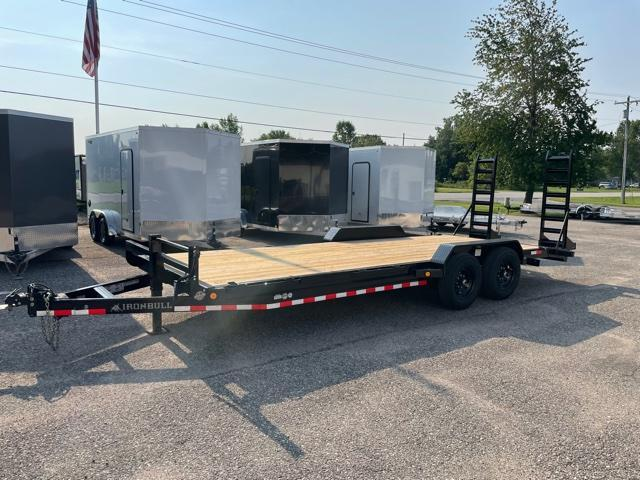 2022 IRONBULL 7X22 14K EQUIPMENT TRAILER WITH FOLD DOWN RAMPS