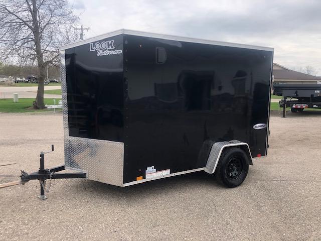 "2021 Look Trailers 6x10 VDOOR NOSE RAMP 6"" EXTRA HEIGHT Enclosed Cargo Trailer"