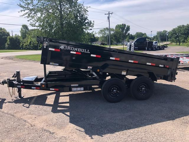2021 IRONBULL 7X14 14K SCISSOR LIFT DUMP TRAILER WITH RAMPS AND TARP KIT