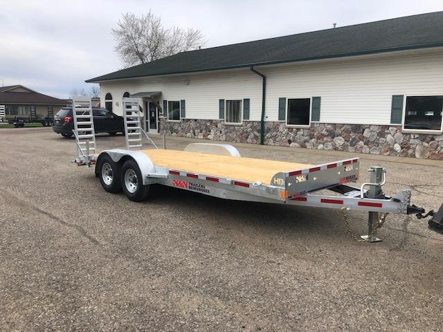 2020 N&N 7X20 14K EQUIPMENT TRAILER WITH FOLD DOWN RAMPS