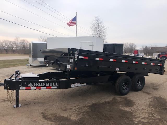 2021 Iron Bull 8x14 14k Scissor Lift Deck Over Dump Trailer Dump Trailer