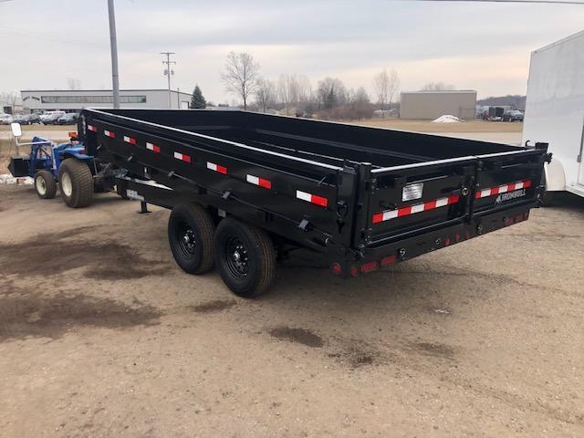 2021 Iron Bull 8x14 14k Scissor Lift Deck Over Dump Trailer Dump Trailer