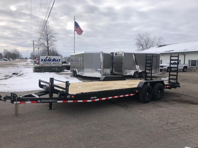 2021 Iron Bull 7X22 14K EQUIPMENT TRAILER FOLD DOWN RAMPS Equipment Trailer
