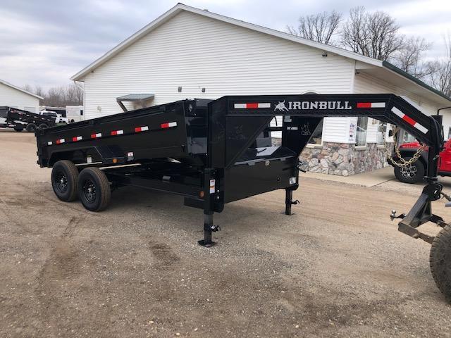 2021 Iron Bull 7x14 14k Gooseneck Scissor Lift Dump Trailer Dump Trailer