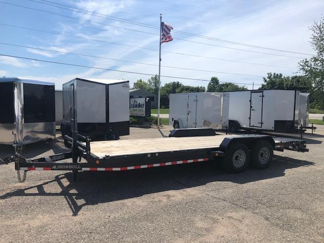 2020 IRONBULL 7X22 14K EQUIPMENT TRAILER WITH MONSTER RAMPS
