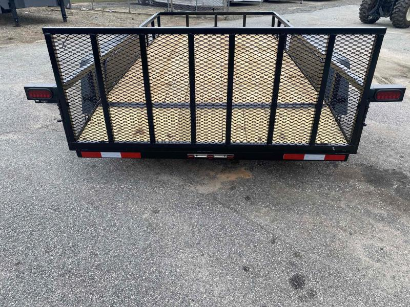 Down 2 Earth Trailers 82X14 Tandem Axle Dovetail Utility Trailer
