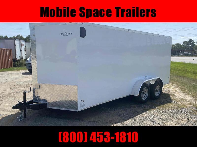 "Trailer 7x16 6'3"" white W/ Ramp Door Enclosed Cargo screwlessTrailer"