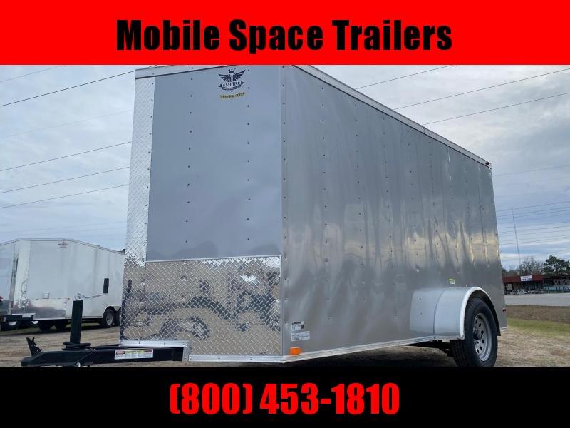 6x12 Ramp Door Silver Enclosed Cargo Trailer