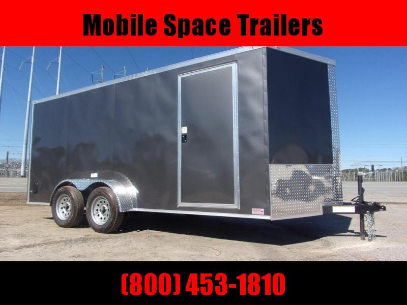 Trailer 7x16 6 3 Charcoal W Ramp Door Enclosed Cargo screwlessTrailer
