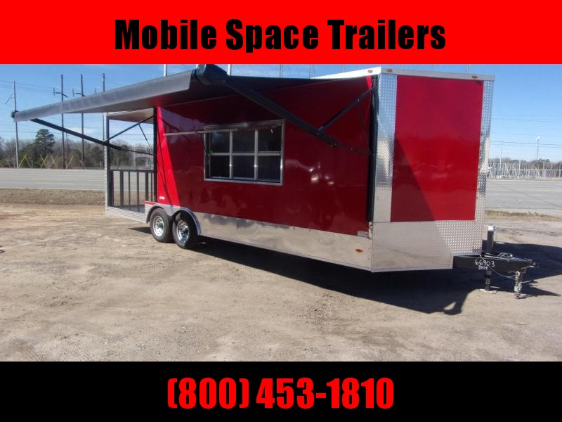 Freedom Trailers 8.5x24 Concession W/ 7' Porch Vending / Concession Trailer