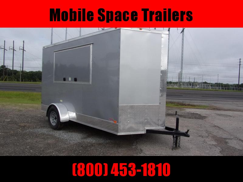 6x12 3x6 Window Silver Enclosed Cargo Concesion
