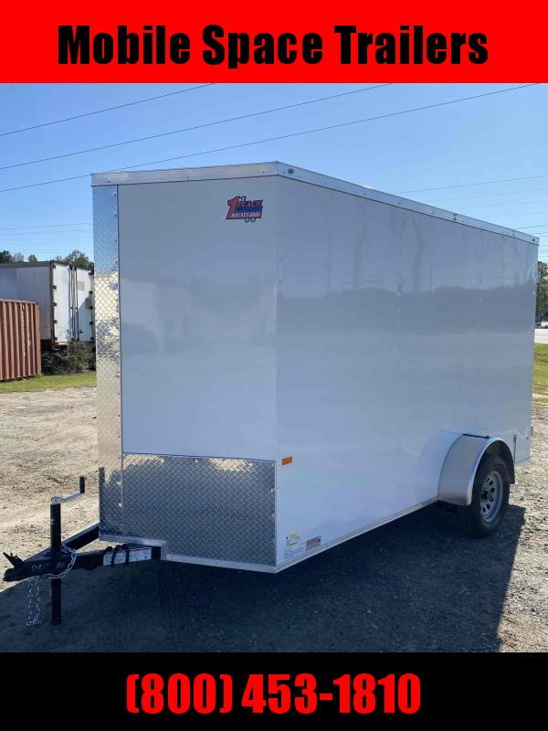 6x12 7' 3x6 Window WHITE Enclosed Cargo Concesion
