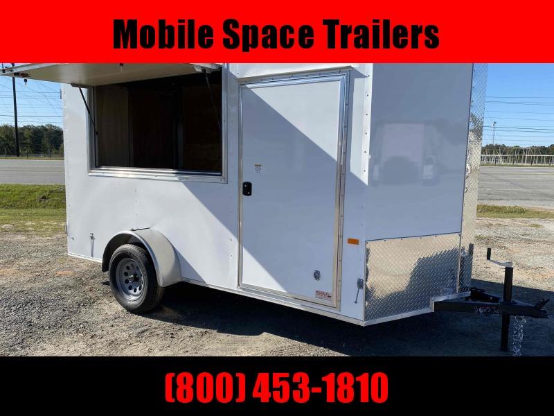 6x12 7' 3x6 Window WHITE Enclosed Cargo Concesion