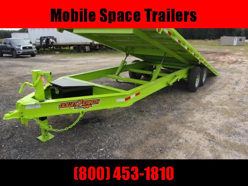 Down 2 Earth Trailers 8x22 Lime Green tilt 14k Equipment Trailer