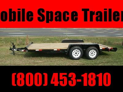 2019 Down 2 Earth Trailers 18' Car Hauler Wood Deck