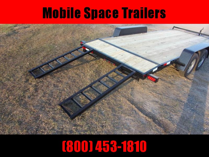 Down 2 Earth Trailers 18' Car Hauler Wood Deck