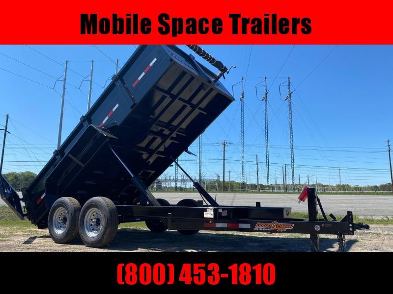 "Down 2 Earth Trailers 7x14 24"" high side 14k Dump Trailer"