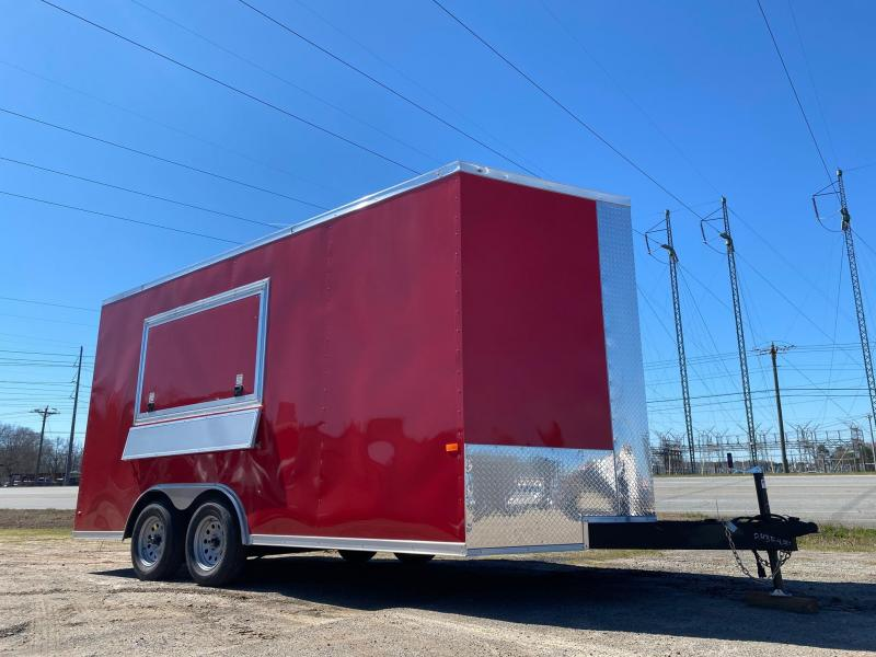 8.5x16 enclosed cargo 3x6 glass and sceen Concession Vending Concession Trailer