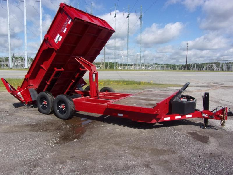 Midsota DUMP 18 FFRD Dump Trailer with Hydraulic Jack