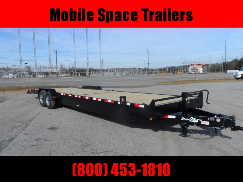 Down 2 Earth Trailers 34' 2 Car Hauler wood deck