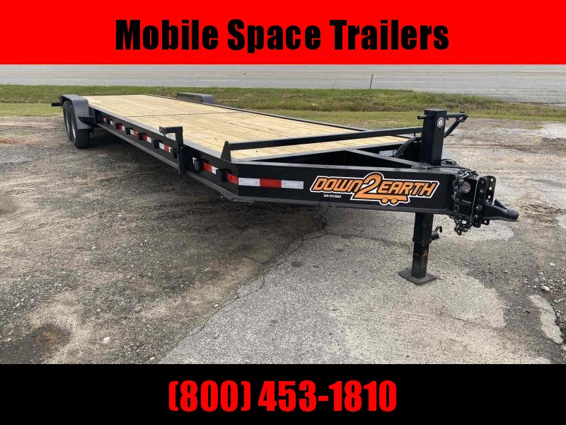 "Down To Earth 36 2 Car Hauler 10"" I Beam Wood Deck Trailer"