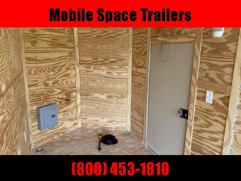 2020 Rock Solid Cargo 6X14 White w/ 30 AMP Electric & Window Enclosed Cargo Trailer