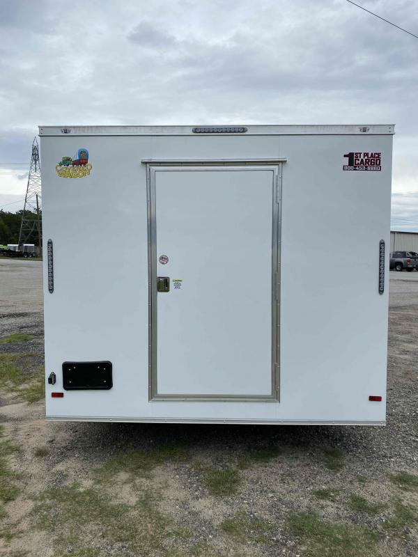 2021 Covered Wagon Trailers 8 5X20 White w Glass Screen Vending Concession Trailer