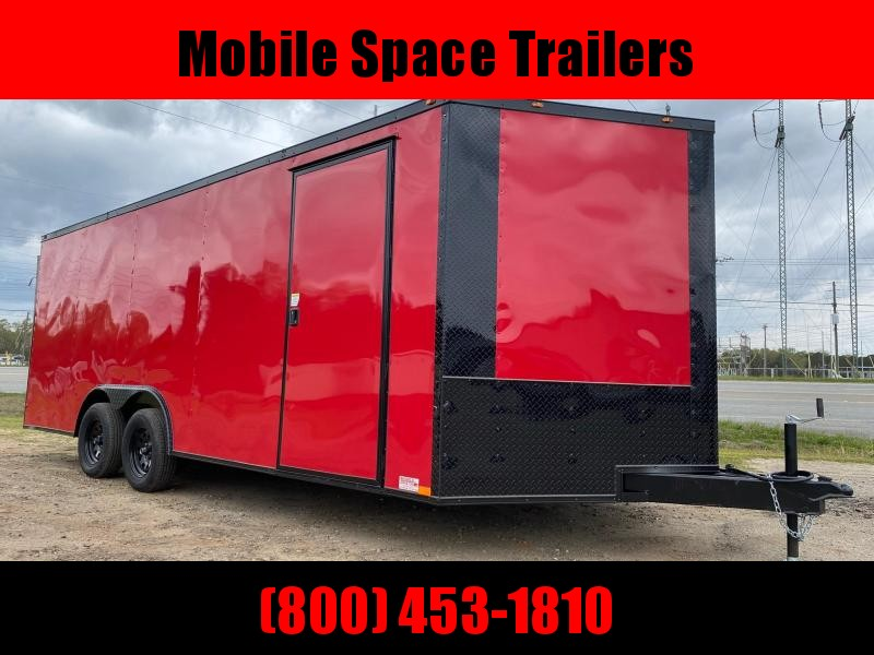 8.5X20 Red 7K Blackout Semi-Screwless Carhauler Enclosed Cargo Trailer