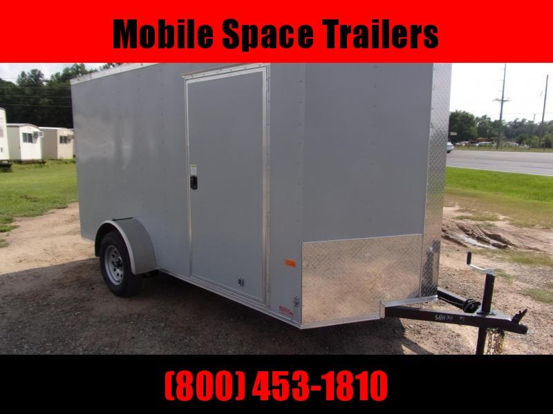 6x12 Silver Ramp Door Enclosed Cargo Trailer