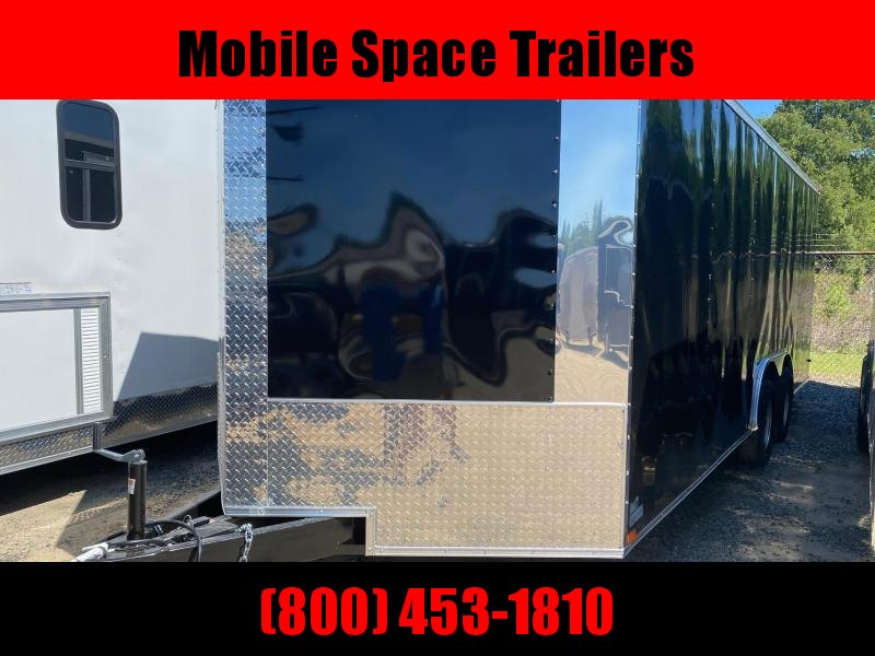 8.5X20 7K Black Semi-Screwless Carhauler Enclosed Cargo Trailer