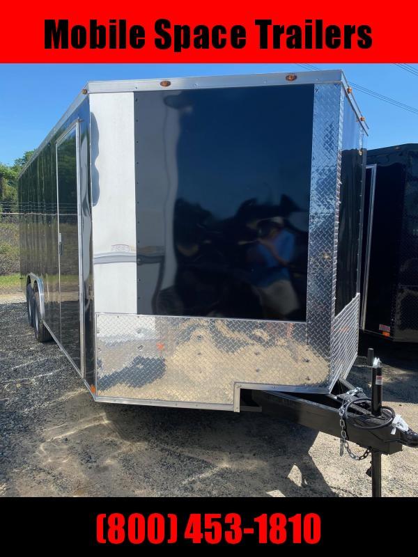 8.5X20 7K Black Semi-Screwless Carhauler Enclosed Cargo Trailer