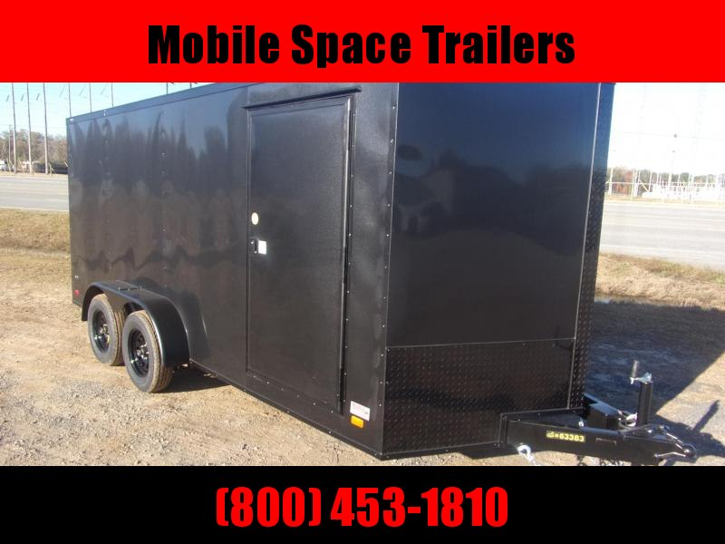 Covered Wagon 7X16 7k Blackout Tandem Ramp Door Enclosed Cargo Trailer