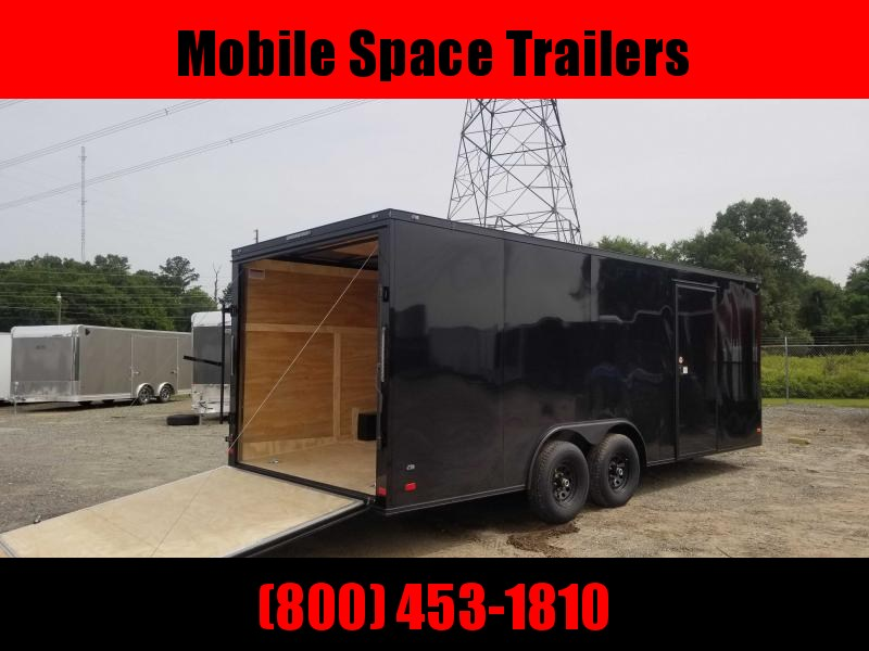 8.5X20 Black 10K Blackout Screwless Carhauler Enclosed Cargo Trailer