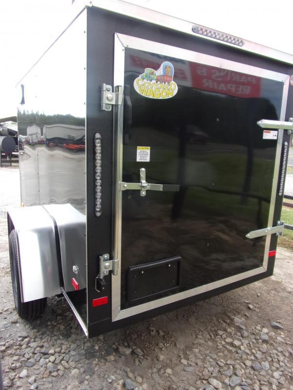 5x8 V-Nose w/ Swing door Enclosed Cargo Trailer
