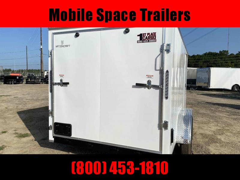 Trailer 7x14 7' White W/ Ramp Door Enclosed Cargo screwlessTrailer
