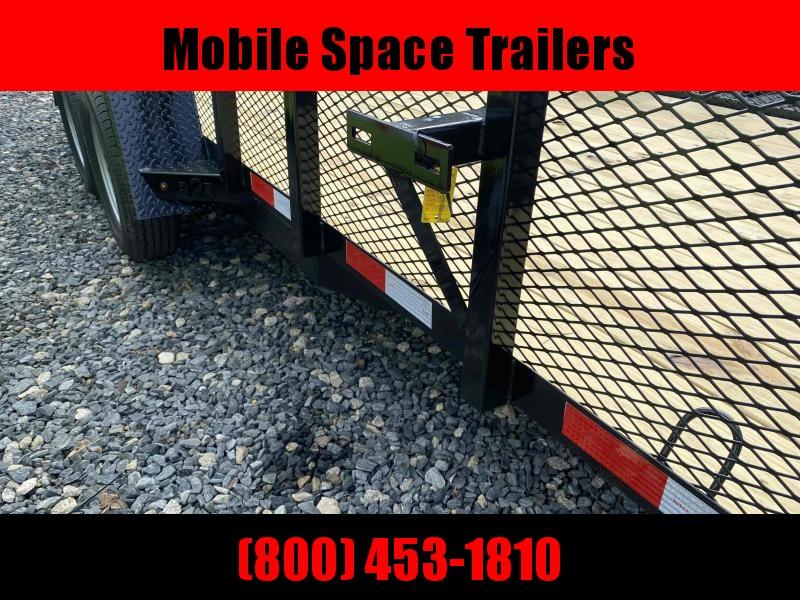Down 2 Earth Trailers 82x16TA Utility Trailer Tube Rails Mesh Side