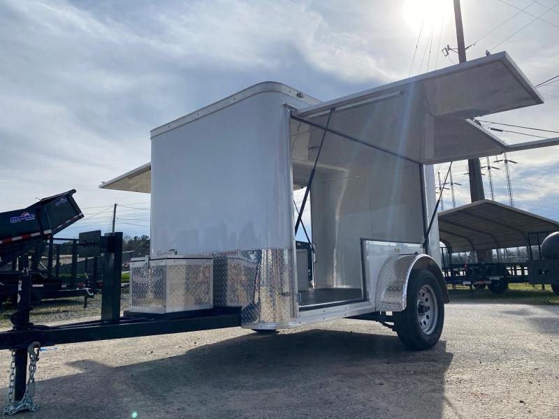 5x8 Batwing Sides Pressure Washing/Tool Enclosed Cargo Trailer