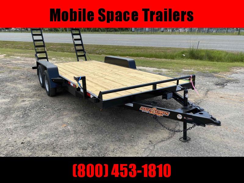 Down 2 Earth Trailers 82x18 10k Wood Deck Equipment Trailer
